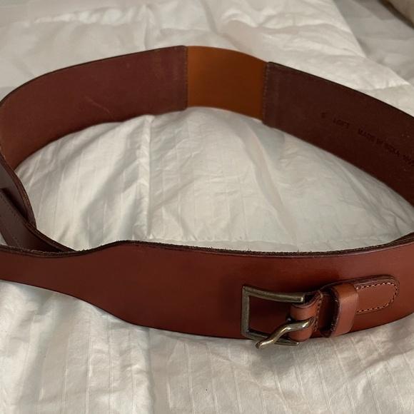 Leather Wide Waist Belt